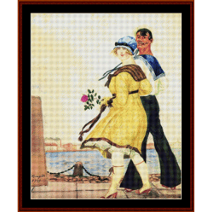 Sailor and his Girl - Kustodiev cross stitch pattern by Cross Stitch Collectibles | Crafting | Cross-Stitch | Wall Hangings