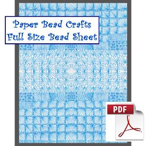 blue reflections bead sheet