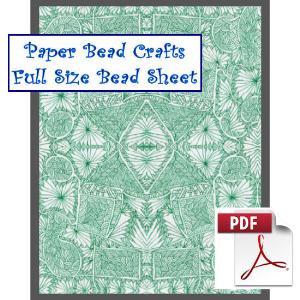 green reflections bead sheet