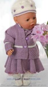 dollknittingpattern 0130d laura - rokje, broekje, trui, jasje, muts en sokjes-(nederlands)