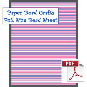 full purple and blue stripes bead sheet