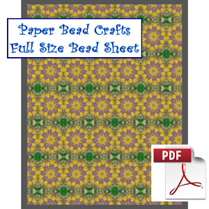 spring rosettes all over bead sheet