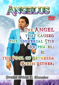angelus. the angel that caused the universal stir (ra-pha-el) and the pool of bethesda (birth-esther)