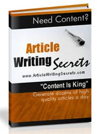 article writing secrets with master resale rights