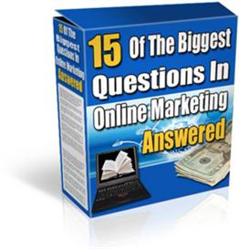 15 Of The Biggest Questions With Master Resale Rights | eBooks | Business and Money