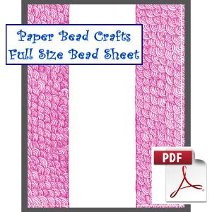 pink bliss bead sheet