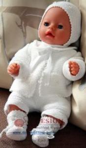 dollknittingpattern 0005d little babydoll - vestje, muts, sokjes, broek en body-(nederlands)