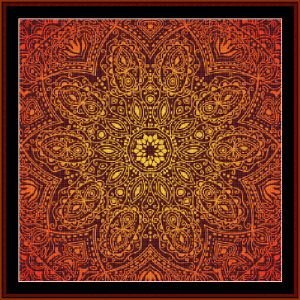 fractal 508 cross stitch pattern by cross stitch collectibles