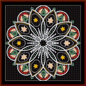 Fractal 513 cross stitch pattern by Cross Stitch Collectibles | Crafting | Cross-Stitch | Wall Hangings