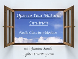 open to your natural intuition audio class
