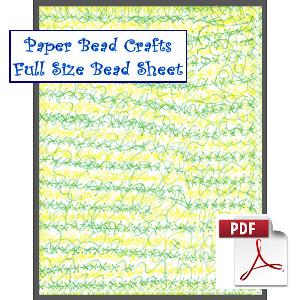 spring chaos printable paper bead sheet
