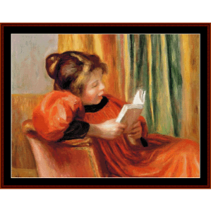 Girl Reading - Renoir cross stitch pattern by Cross Stitch Collectibles | Crafting | Cross-Stitch | Wall Hangings