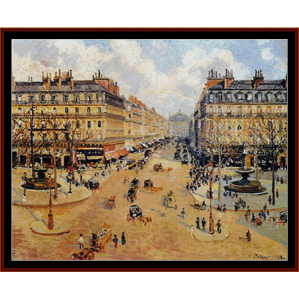 avenue de l'opera - pissarro cross stitch pattern by cross stitch collectibles