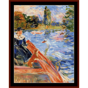 boating on the lake - morisot cross stitch pattern by cross stitch collectibles