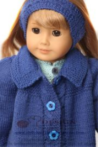 DollKnittingPattern 0131D HERMELINE -  Skirt, Pants, Sweater, Jacket, Hat and Socks -(English) | Crafting | Knitting | Baby and Child