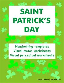 st patricks day handwriting activities