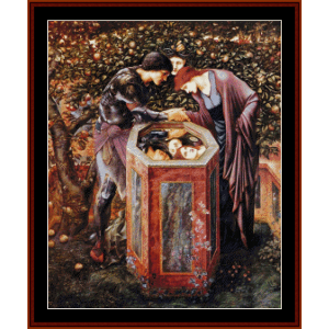 The Baleful Head - Burne-Jones cross stitch pattern by Cross Stitch Collectibles | Crafting | Cross-Stitch | Wall Hangings