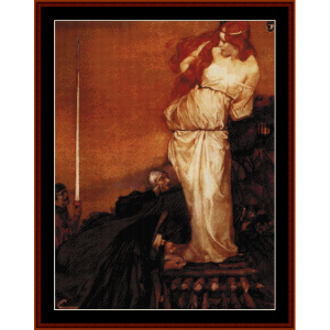 guinevere rescued by lancelot - burne-jones cross stitch pattern by cross stitch collectibles