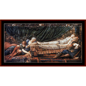 the sleeping beauty - burne-jones cross stitch pattern by cross stitch collectibles