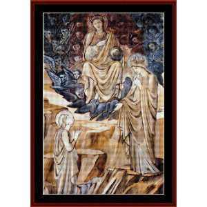 the vision of st. catherine - burne-jones cross stitch pattern by cross stitch collectibles