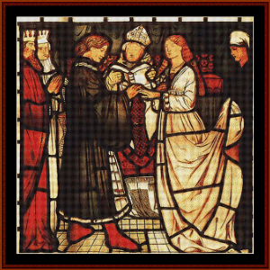 wedding of sir tristam - burne-jones cross stitch pattern by cross stitch collectibles
