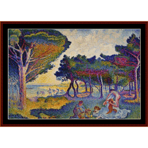 by the mediterranean - signac cross stitch pattern by cross stitch collectibles