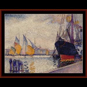 canal de la guidecca, venice - signac cross stitch pattern by cross stitch collectibles