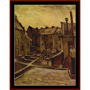 Old Houses in Antwerp - Van Gogh cross stitch pattern by Cross Stitch Collectibles   Crafting   Cross-Stitch   Wall Hangings