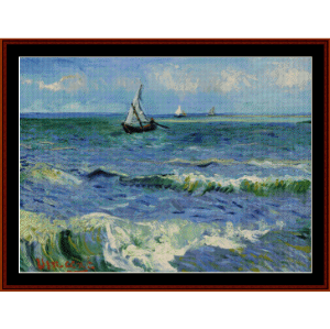 seascape near les st-maries de la mer - van gogh cross stitch pattern by cross stitch collectibles