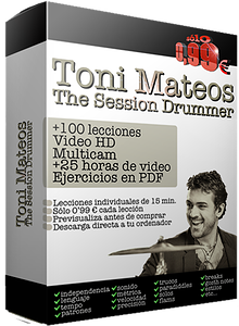 the session drummer. leccion 100. quintillos con flam en subgrupos de tres