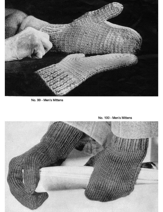 Second Additional product image for - Two Needle Mittens   Volume 91   Doreen Knitting Books DIGITALLY RESTORED PDF