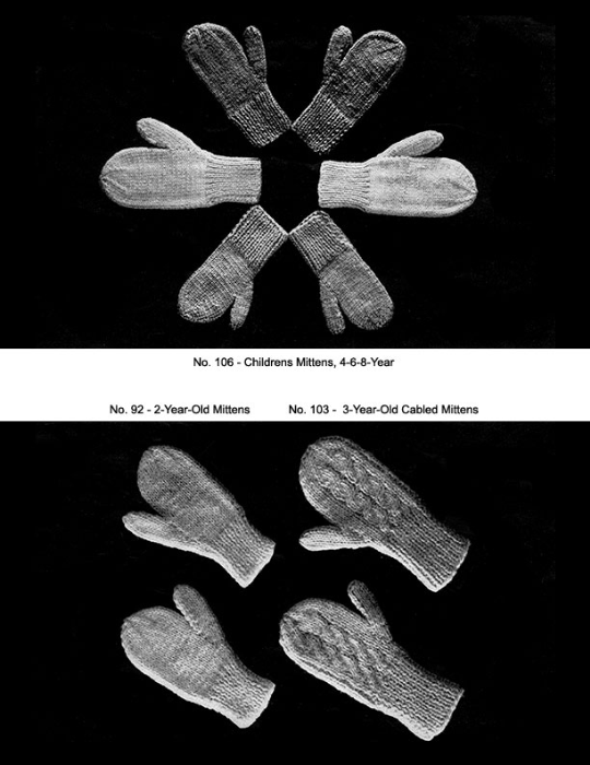 Fourth Additional product image for - Two Needle Mittens   Volume 91   Doreen Knitting Books DIGITALLY RESTORED PDF
