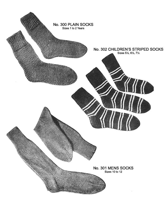 First Additional product image for - Two Needle Socks   Volume 93   Doreen Knitting Books DIGITALLY RESTORED PDF