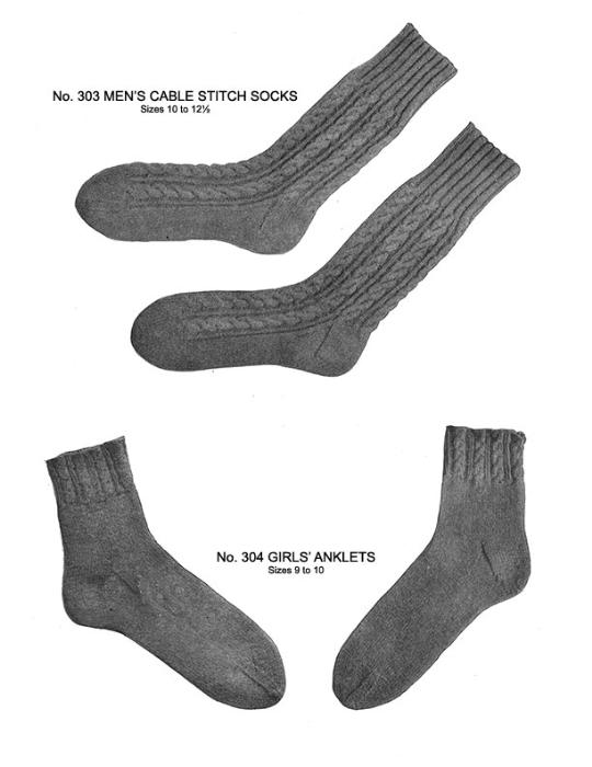 Third Additional product image for - Two Needle Socks   Volume 93   Doreen Knitting Books DIGITALLY RESTORED PDF