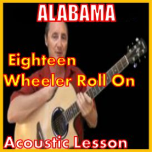 learn to play roll on 18 wheeler by alabama
