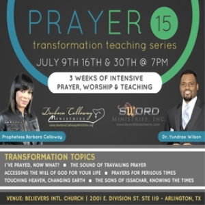 prayer series 15 - prophetess calloway & dr. yundrae