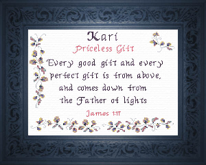 Name Blessings -  Kari 2 | Crafting | Cross-Stitch | Religious