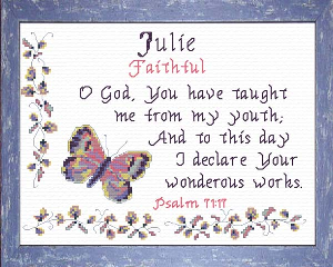 Name Blessings -  Julie | Crafting | Cross-Stitch | Religious