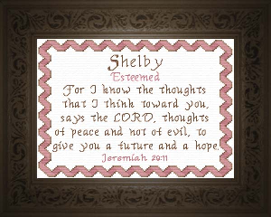 Name Blessings -  Shelby   Crafting   Cross-Stitch   Religious