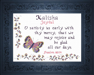Name Blessings -  Kalisha | Crafting | Cross-Stitch | Religious