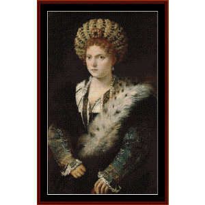 isabella d'este - titian cross stitch pattern by cross stitch collectibles