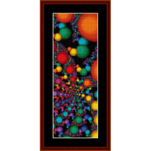 fractal 135 bookmark cross stitch pattern by cross stitch collectibles