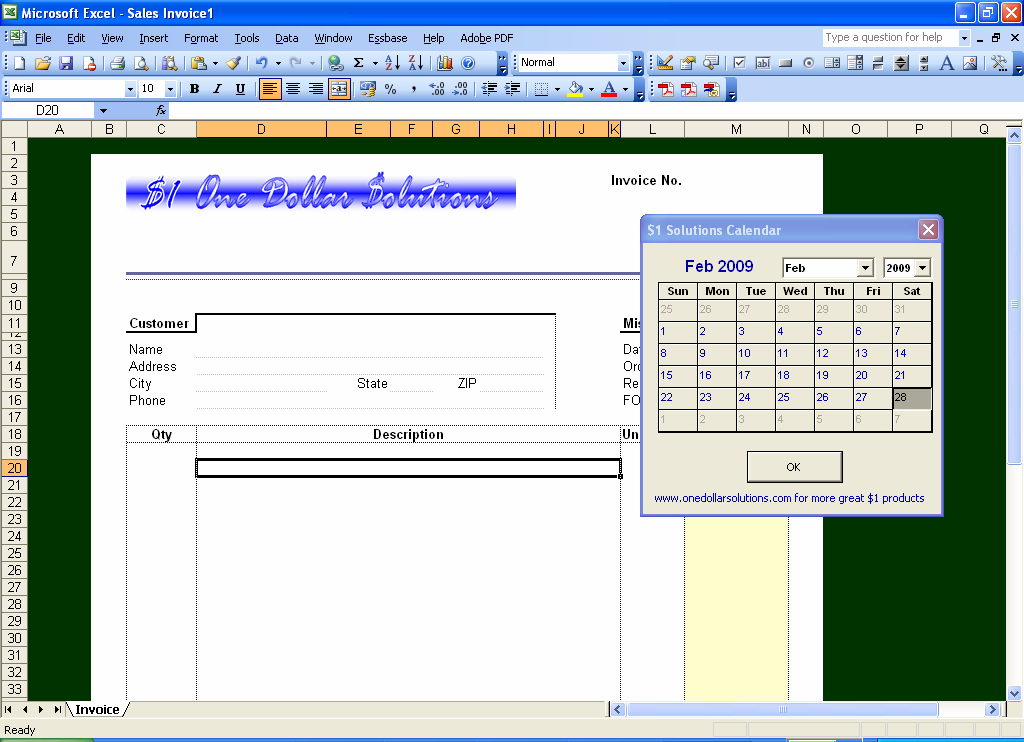 First Additional product image for - Excel Floating Calendar