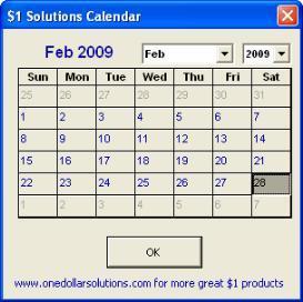 Excel Floating Calendar | Software | Utilities