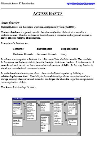 First Additional product image for - EDITABLE Microsoft Access 97 Introduction