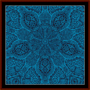 fractal 519 cross stitch pattern by cross stitch collectibles