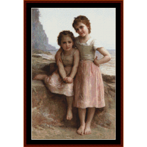 on greve, 1896 - bouguereau cross stitch pattern by cross stitch collectibles