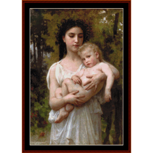 the younger brother, 1900 - bouguereau cross stitch pattern by cross stitch collectibles