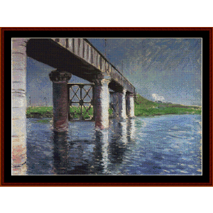 The Bridge at Argenteuil - Caillebotte cross stitch pattern by Cross Stitch Collectibles | Crafting | Cross-Stitch | Other