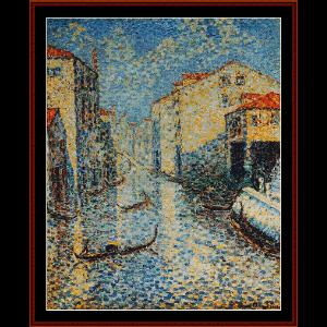 Venetian Canal - H.E. Cross cross stitch pattern by Cross Stitch Collectibles   Crafting   Cross-Stitch   Wall Hangings
